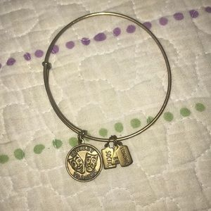 Alex and Ani gold Comedy and Tragedy bracelet